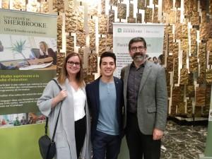 : Julie Gagné, Santiago Pérez Bedoya et le Pr Enrique Correra Molina (Vice-doyen au développement international et Secrétaire de faculté)